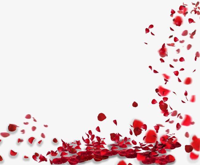 Rose petals floating material