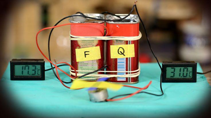 Com apenas duas latinhas, uma placa Peltier e um pouco de água quente e fria, faça um gerador de energia aí na sua casa!