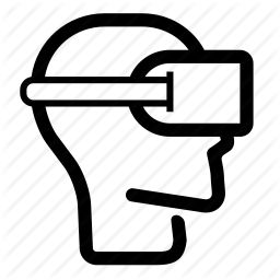 head, headset, oculus, reality, side, virtual, vr icon