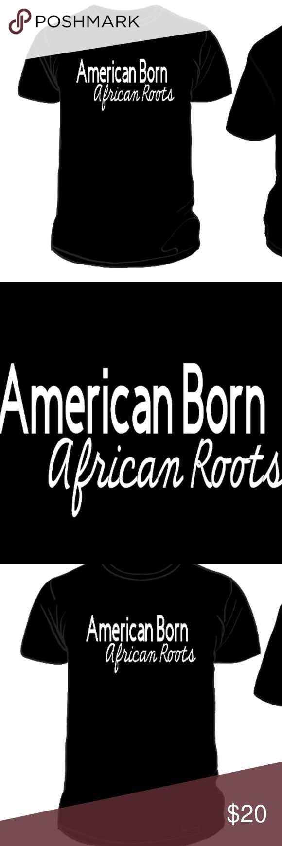 African Roots Reflective T-Shirt Every powerhouse needs a strong foundation. Be proud of your roots, and where you came from. American Born, African Roots.  VISIBL creates unique, state of the art apparel designs.  - This design meets ANSI 107 and EN471 standards for retro-reflectivity, meaning the design reflects light back to the light source.  - The design can be seen from be seen from over ¼ mile away (1,280 feet).   In other words, it is really, really extremely reflective! VISIBL Tops…