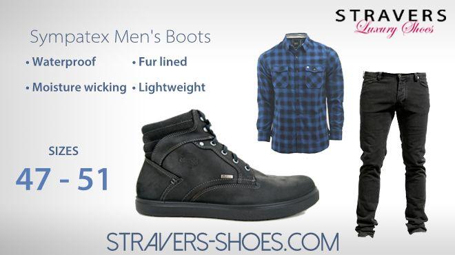 #Sympatex Mens #Boots in #large #shoe #sizes #47 #48 #49 #50 #51 #waterproof semi-fur #lined #moisture #wicking #lightweight