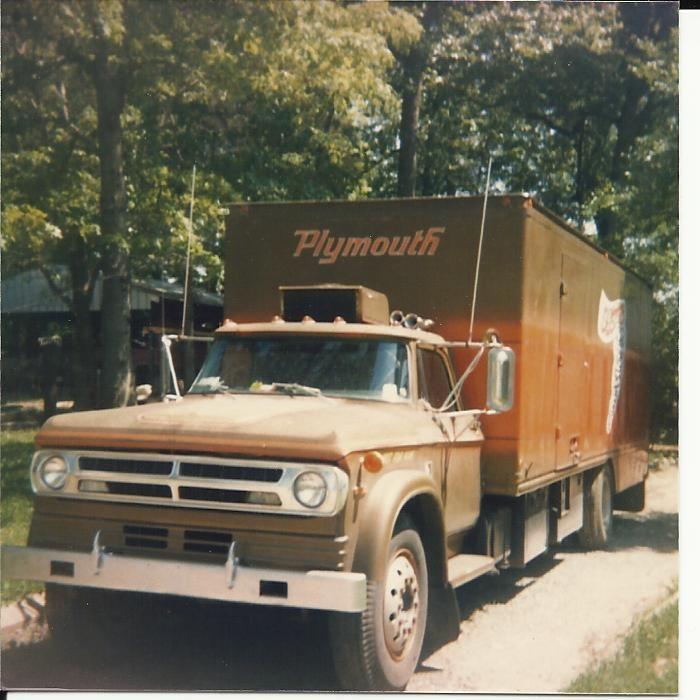 Plymouth enclosed car hauler
