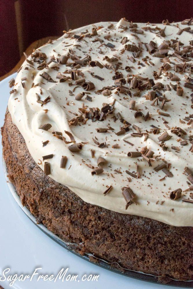 Sugar Free Low Carb Grain Free Chocolate Espresso  Fudge Cake- sugarfreemom.com