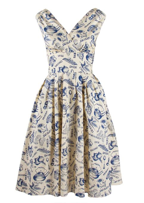 Time for Tea - 1950s Day Dress - Fashion 1930s, 1940s & 1950s style - vintage reproduction