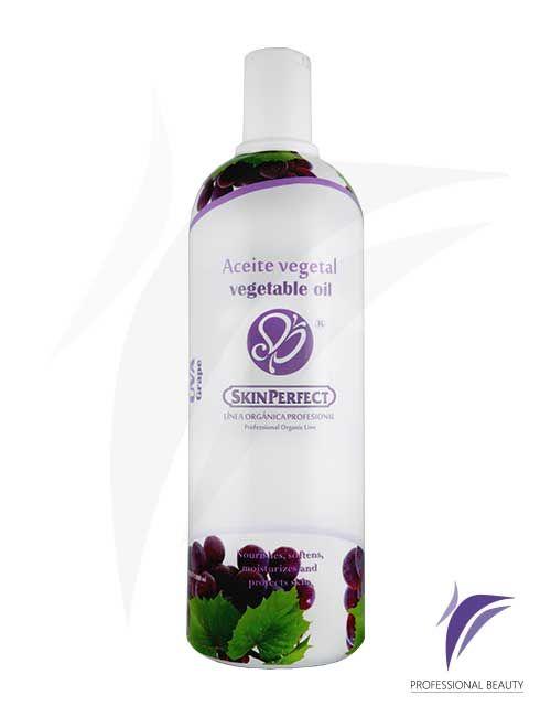 Aceite Vegetal Uva 1000ml: Aceite vegetal de uva. Gracias a sus propiedades activa la microcirculación y mejora su poder osmótico. Los antioxidantes naturales de la uva combaten los radicales libres aportando firmeza, juventud en la piel además del bienestar y relajación en la terapia de spa.