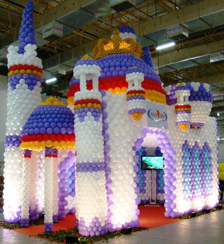 Castle balloon abc always balloon crazy pinterest for Home decorations with balloons
