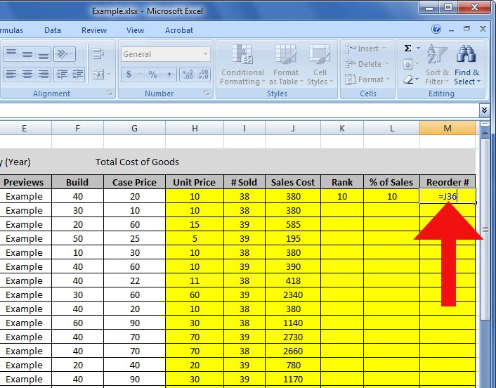 how to create an inventory spreadsheet in numbers