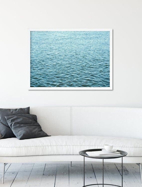Ocean Print Serene Wall Art Minimal Wall Decor Ocean Photography