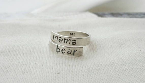 Mama bear ring!  This is awesome https://www.etsy.com/ca/listing/508160042/adjustable-mama-bear-wrap-ring