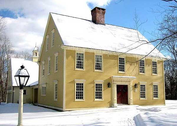 309 best new england colonial saltbox houses images on for New england colonial house plans
