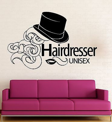 Wall Sticker Vinyl Decal Hairdresser Beauty Salon Unisex Hair Salon (ig2018)