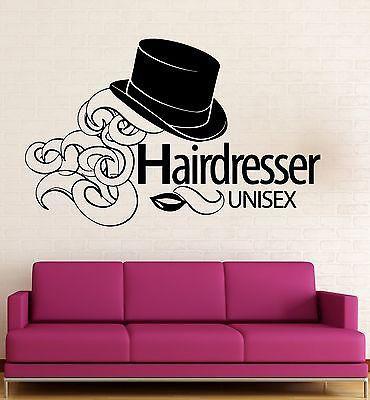 Wall Sticker Vinyl Decal Hairdresser Beauty Salon Unisex Hair Salon (ig2018)