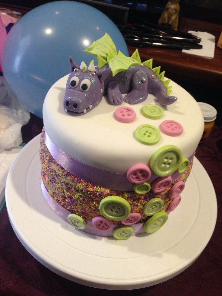 Dragon button Baby shower cake