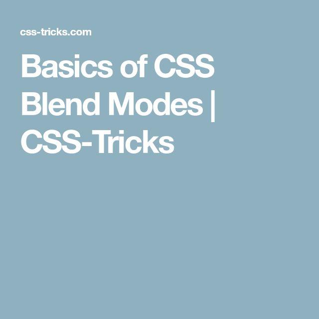 Basics of CSS Blend Modes | CSS-Tricks