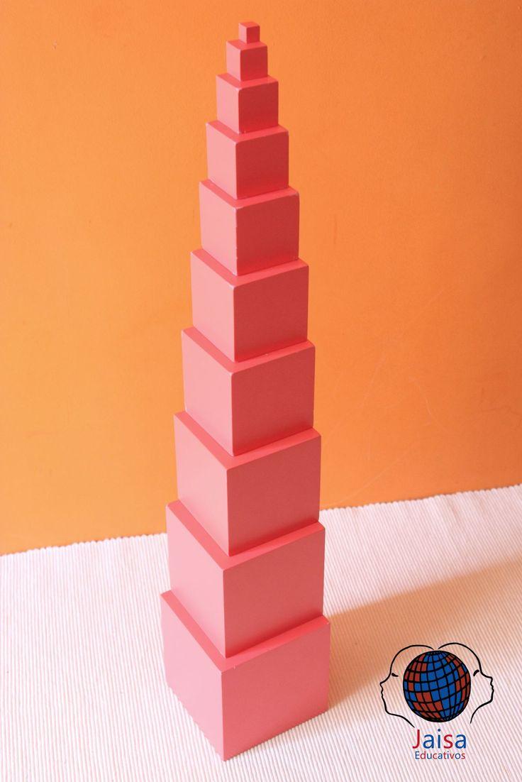 Objetivos y usos de la torre rosa Montessori