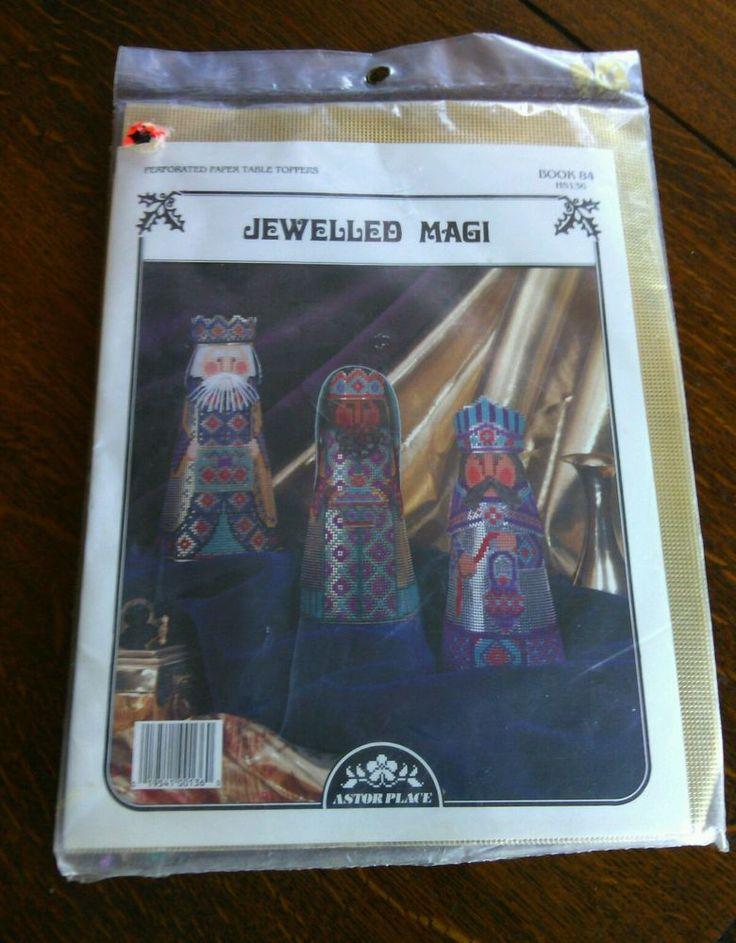 Three Wise Men Jeweled Tones Table Topper Needlepoint Kit Christmas Craft Set   | eBay