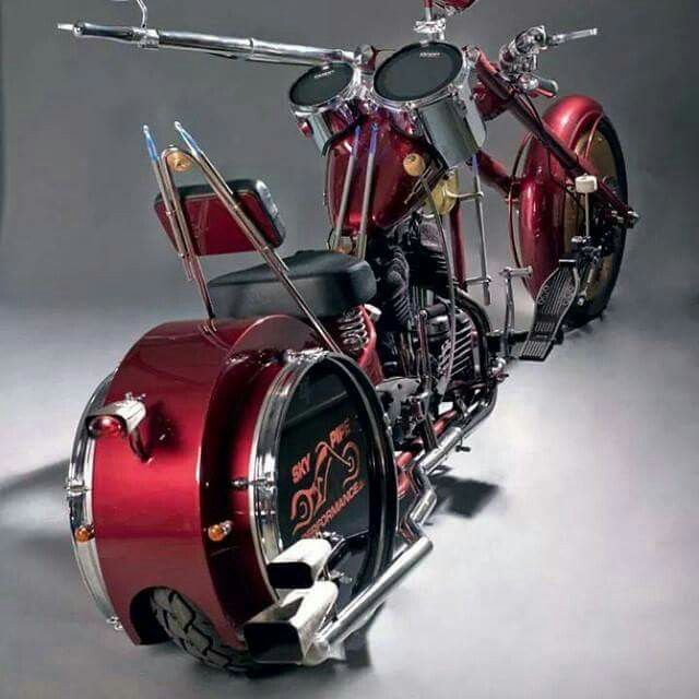 Great drum set, or 'cycle ? I don't know which ?