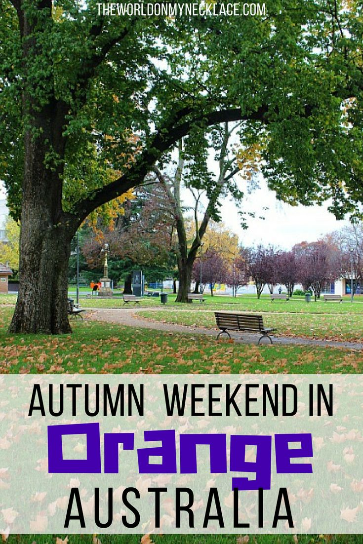 Orange NSW is a great weekend destination from Sydney for its food scene and country charm - especially during autumn when the leaves change and there is a slight chill in the air. Orange NSW is also a great spot to spend ANZAC Day. | The World on my Necklace