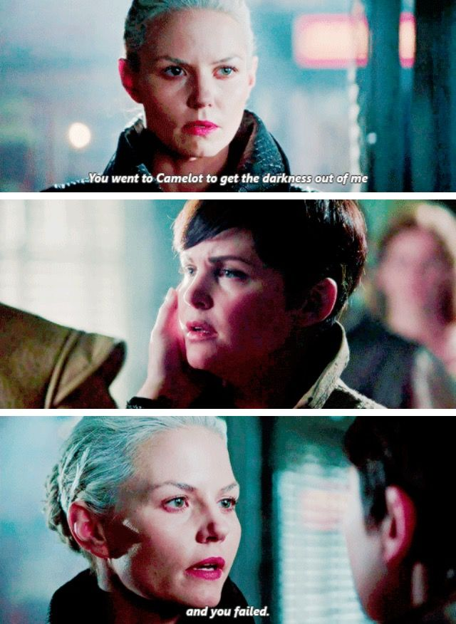 """You went to Camelot to get the darkness out of me and you failed"" - Dark Swan #OnceUponATime"