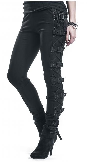 Black Rock Leggings by Gothicana by EMP