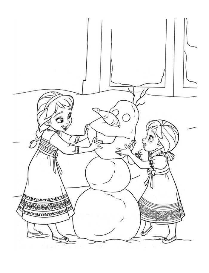 Disney Frozen Coloring Page 3