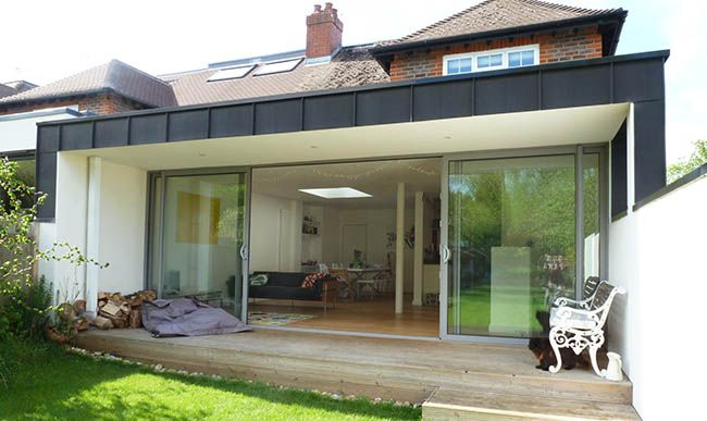 Flat Roof Extension Design Cost Ideas Flat Roof Extension Roof Extension Bungalow Exterior