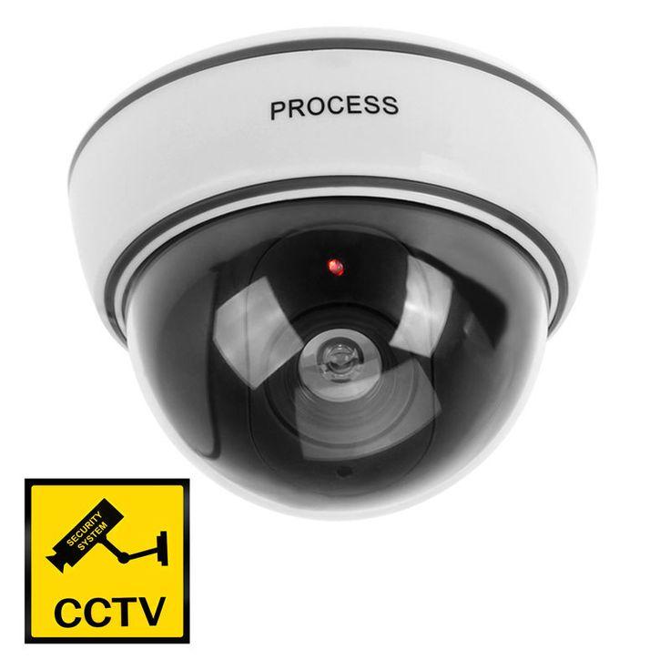 Flashing LED Attrappe CCTV Dummy Dome Kamera Überwachungskamera Indoor Outdoor in Heimwerker, Sicherheitstechnik, Überwachungstechnik | eBay