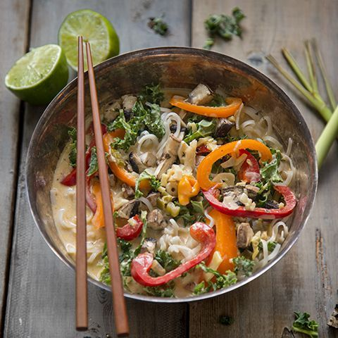 Thai Coconut Noodle Bowl, sweet, creamy heat. Irresistible. - thisTable