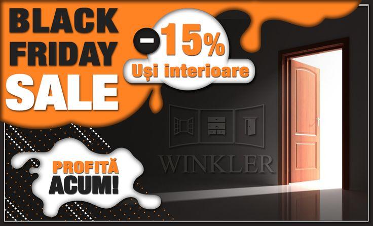Prinde ultimele zile cu reducere de 15% la toate modelele de uși interioare! Click aici să vezi oferta! #blackfriday #mobilălacomandă #ușiinterioare #reducere