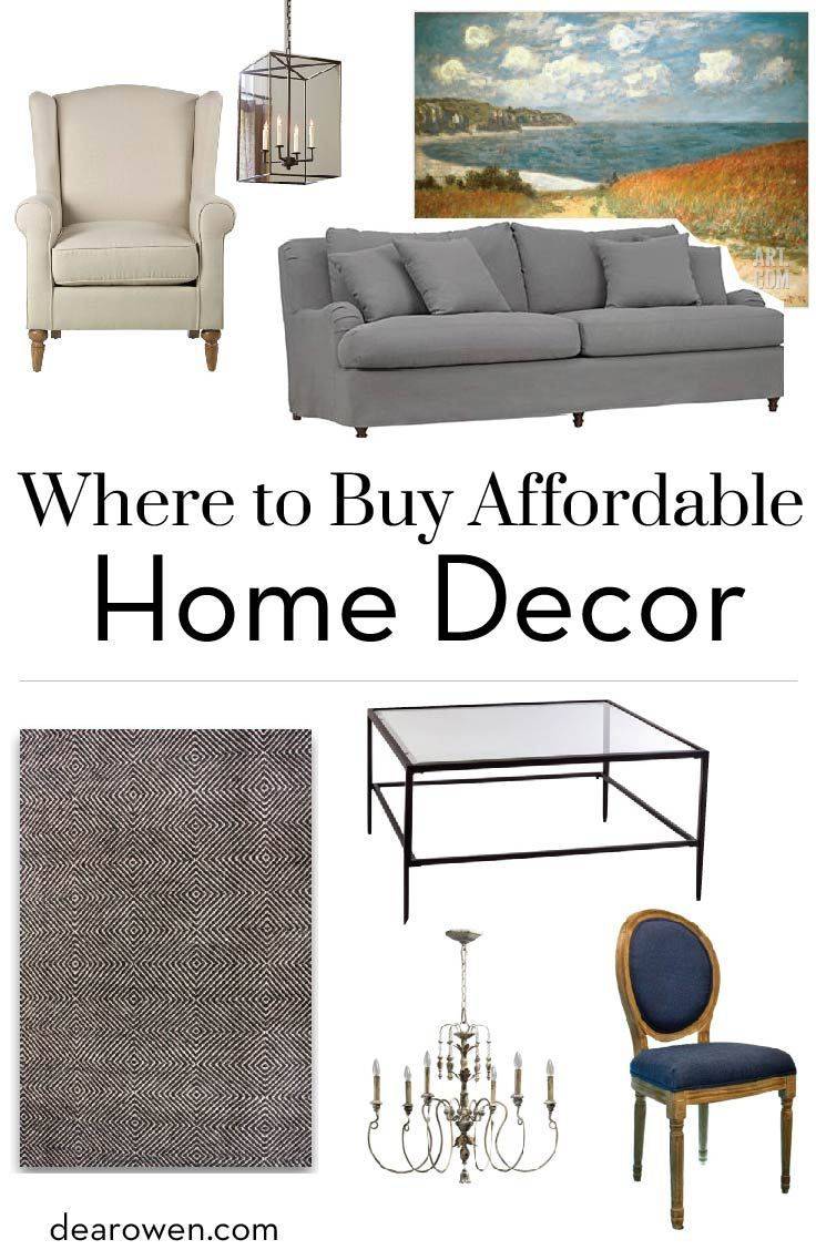 Do you need to stretch your furniture budget? I'm sharing where to buy affordable home decor AND a Living Room Guidebook with all the best resources and infographics. Click through to read more now. | home decor, affordable furniture, affordable home decor, furniture