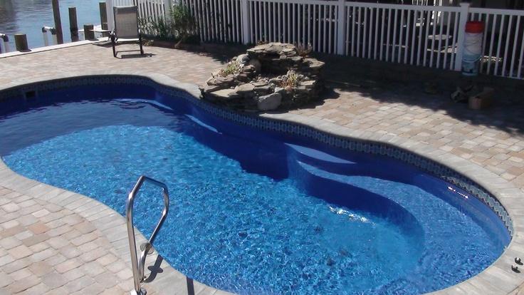 20 best fiberglass pool install 14 images on pinterest for Fiberglass pool installation