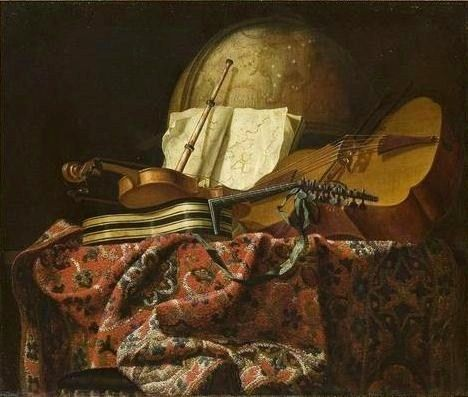 Francesco Fieravino, Still live with musical instruments, 1640
