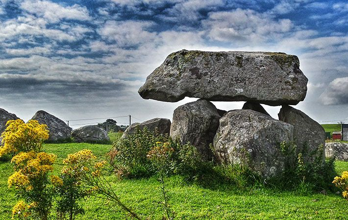 Tomb at Carrowmore: Ancient tomb built 1,000ft up a mountain pre-dates the Egyptian pyramids back to 3500BC.