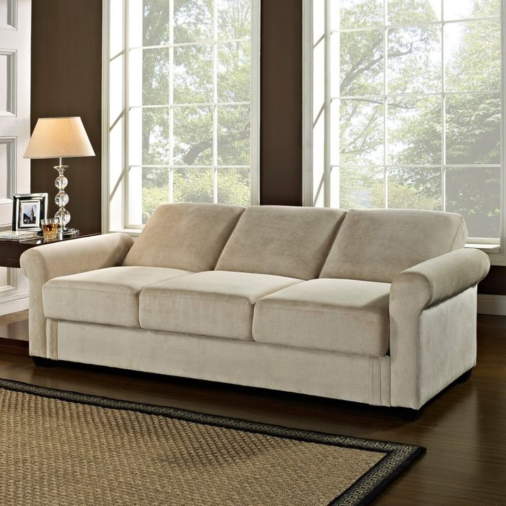 Serta Dream Thomas Convertible Sofa Light Brown