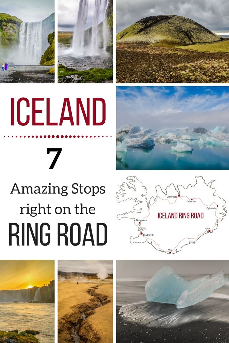Iceland Travel - Discover the famous Iceland Ring Road and 7 amazing stops right next to it. Just get out of the car and be blown away! They sure will end up on your Iceland Itinerary ! | Things to do in Iceland