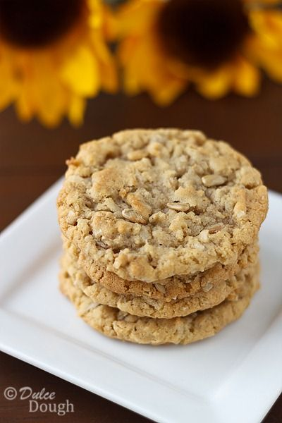 Sunflower Seed Cookies by @Jill | Dulce Dough                                                                                                                                                                                 More