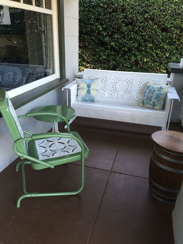 vintage metal furniture. vintage metal glidersold fashioned chairs and retro tables furniture company