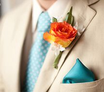 groomsmen... don't like the patterned tie, but this would give you an idea of the colors beside each other...