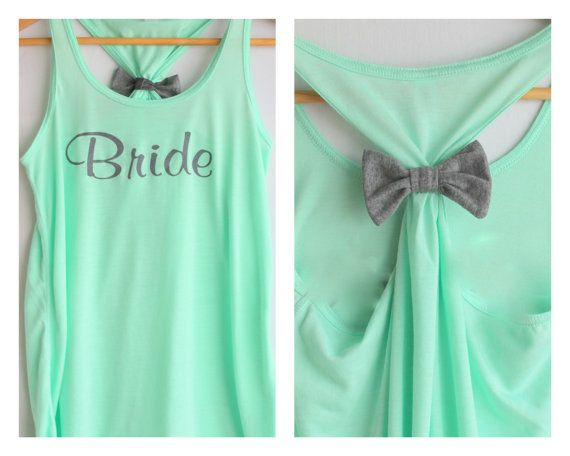 Hey, I found this really awesome Etsy listing at http://www.etsy.com/listing/156115692/bride-bow-tank-top-mint-small