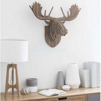 Голова оленя L 68 cm STEFAN 155119 Maisons. Декор на стену - Рога ЛОСЯ