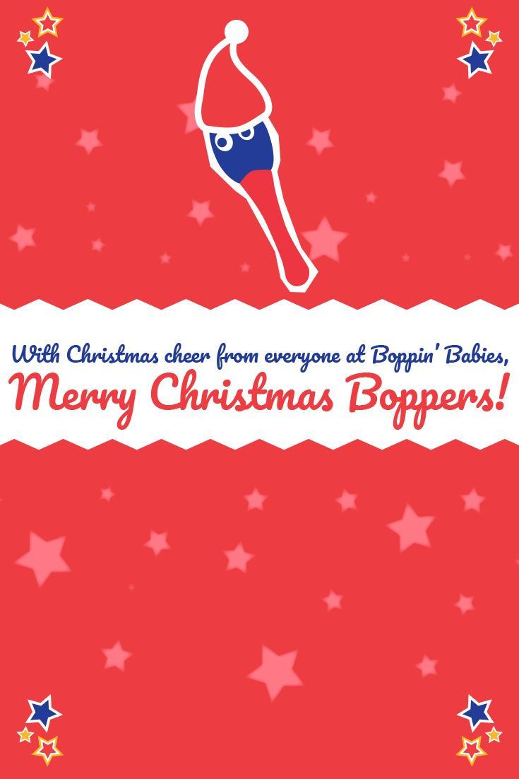 Merry Christmas from everyone at the Boppin' Babies team!