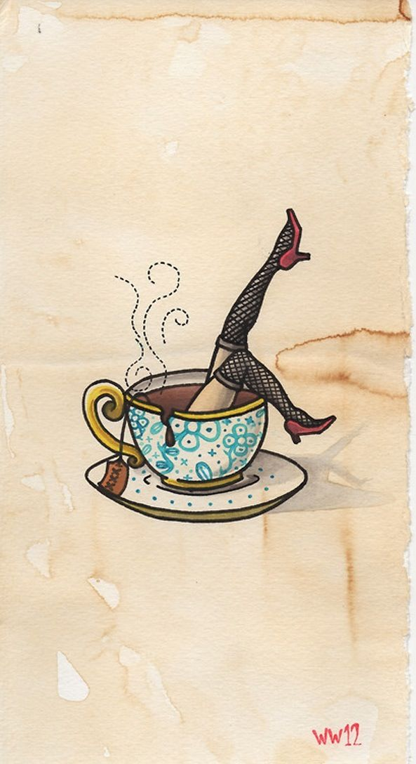 Pin up tea design