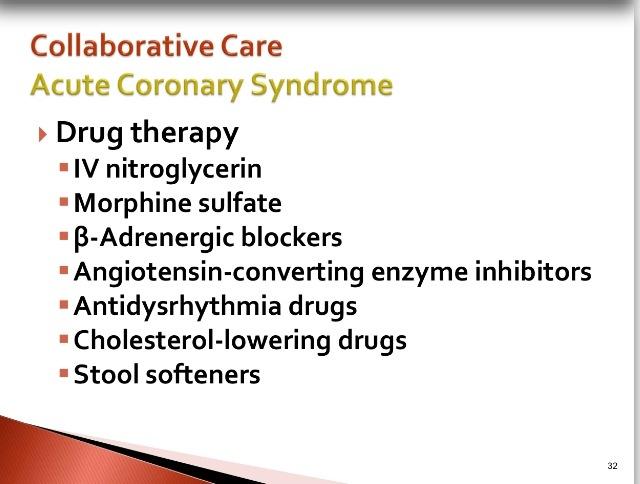 Acute coronary syndrome care.