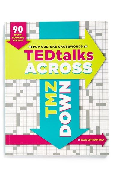 Chronicle Books 'Tedtalks Across, TMZ Down' Pop Culture Crosswords Book available at #Nordstrom