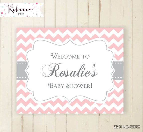 grey chevron welcome sign printable baby shower sign door baby shower