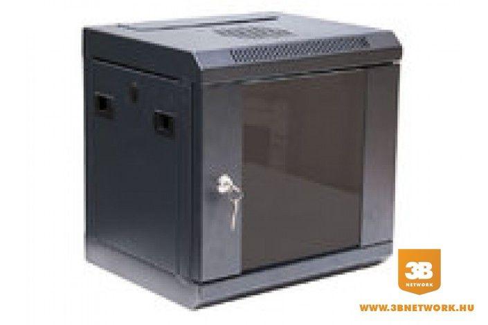 """AMTECH 4U 10"""" fali rack szekrény 350x280x255 közepes kép"""