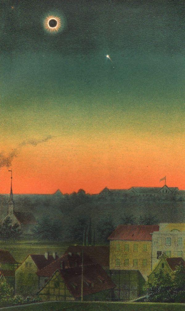 Zaćmienie Słońca, Total Eclipse of the Sun 1851 Makes me think of magical realism