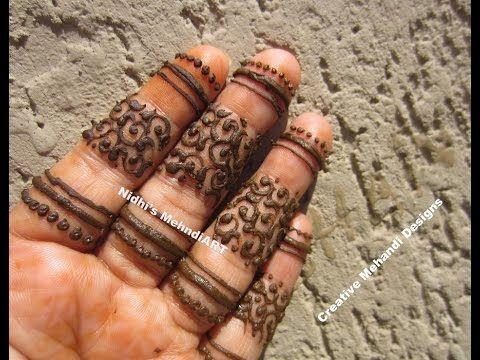 YouTube #fingers #henna #mehndi #design