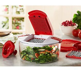Making stuffing, salads and sides are so much easier with this Genius Chopper. #itkwd @QVC.com