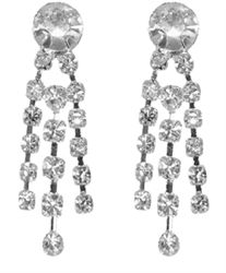 This Pair is only 1 inch long. Top rhinestone is 6 mm with three short strands of 2mm rhinestones. Earrings are Silver Plated Brass. Earring backs are barrel type with hypo-allergenic posts.#earrings#long earrings#dangle earrings#bridal earrings#bridal jewelry#bridesmaids jewelry#bridesmaids earrings#rhinestone earrings prom earrings#earrings for prom#wedding earrings#silver earrings